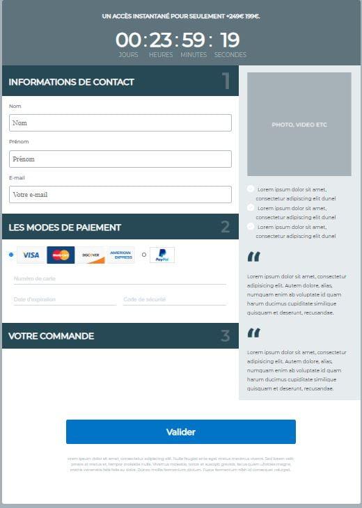 exemple page de commande